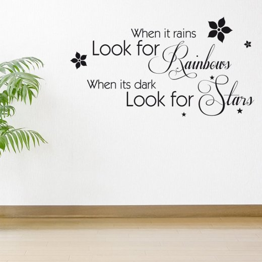 Look For Stars Wall Sticker Quote