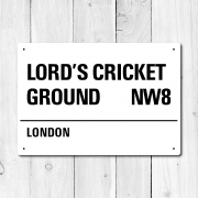 Lord's Cricket Ground, London Metal Sign