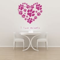 Love Animals Wall Sticker