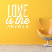 Love Is The Answer Wall Sticker Quote