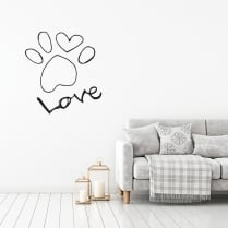 Love Paw Wall Sticker