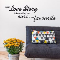 Love Story Wall Sticker Quote