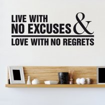 Love With No Regrets Wall Sticker Quote