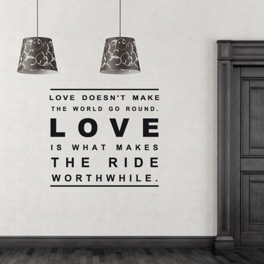 Love World Wall Sticker Quote