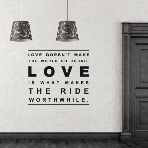 Love World Wall Sticker Quote