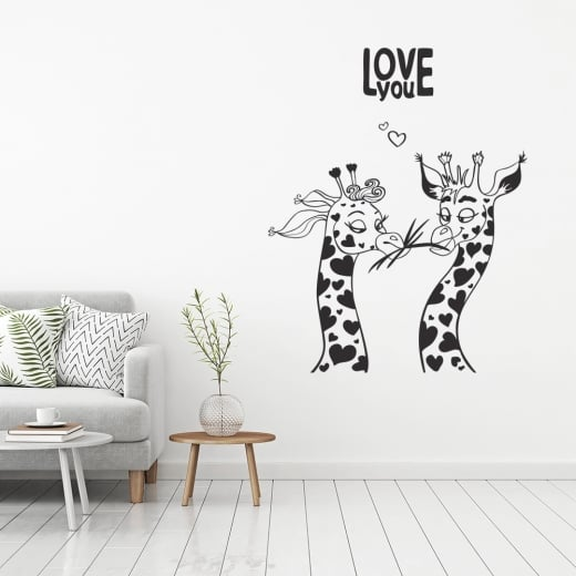 Love You Giraffe Wall Sticker