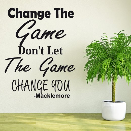 Macklemore Wall Sticker Quote
