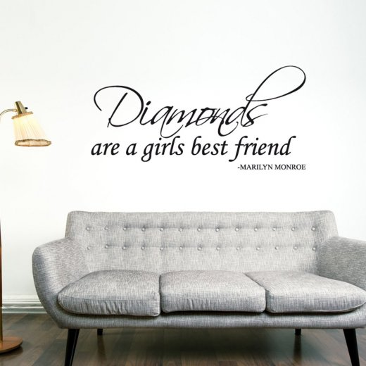 Marilyn Monroe Diamonds Wall Sticker Quote