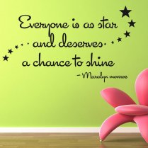 Marilyn Monroe Stars Wall Sticker Quote