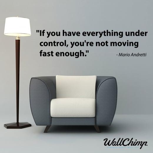 WallChimp Mario Andretti Motivational Sports Wall Sticker Quote