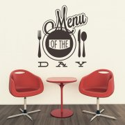 Menu Of The Day Wall Sticker Quote