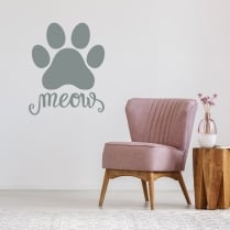 Meow Paw Wall Sticker