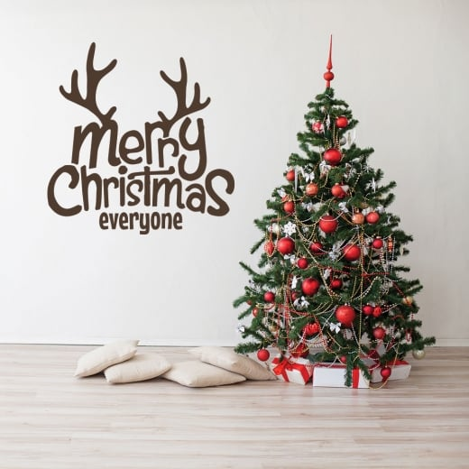 Merry Christmas Everyone >> Merry Christmas Everyone Wall Window Sticker From Wall Chimp Uk