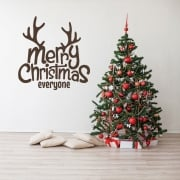 Merry Christmas Everyone Wall & Window Sticker