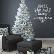 Merry Christmas & Happy New Year Wall and Window Sticker