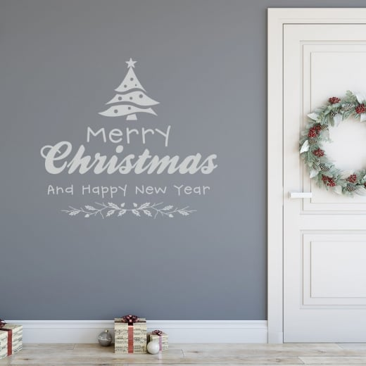 Merry Christmas & Happy New Year Wall & Window Sticker