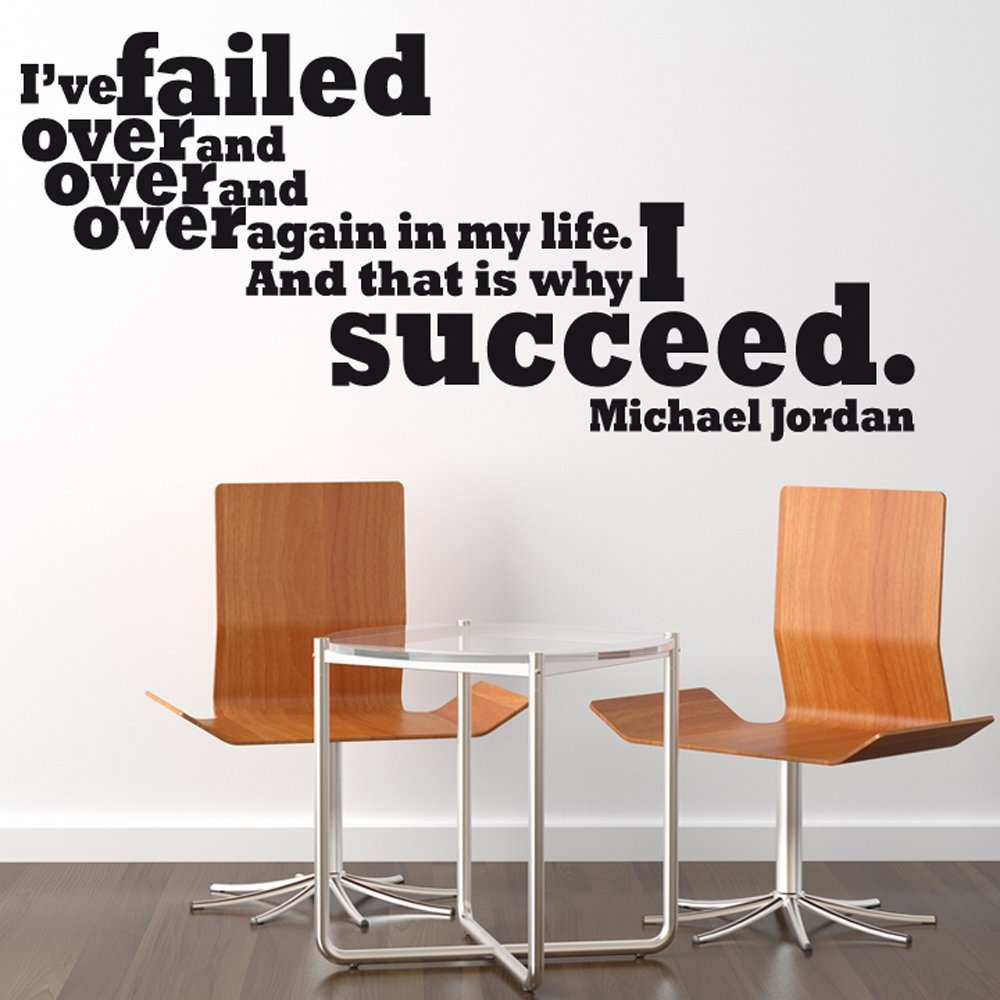 Michael Jordan Motivational Sports Wall Sticker Quote Part 65