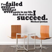 Michael Jordan Motivational Sports Wall Sticker Quote
