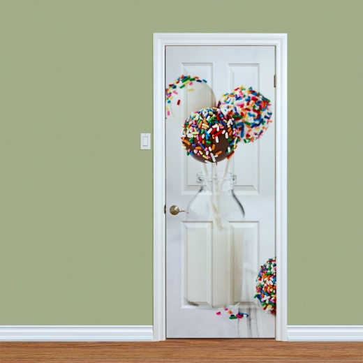 Milk & Cupcake Lolly Printed Door