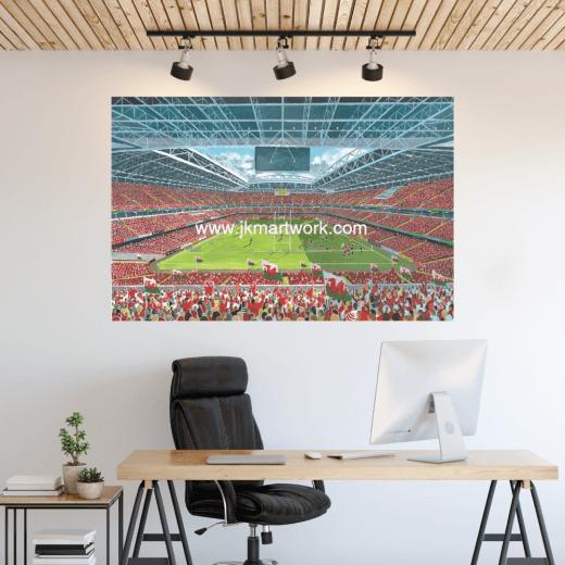 Millennium Stadium Football Ground Wall Sticker