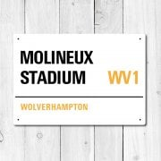 Molineux Stadium, Wolverhampton Metal Sign