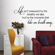 Moments Take Your Breath Away Wall Sticker Quote