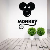 Monkey Face Wall Sticker