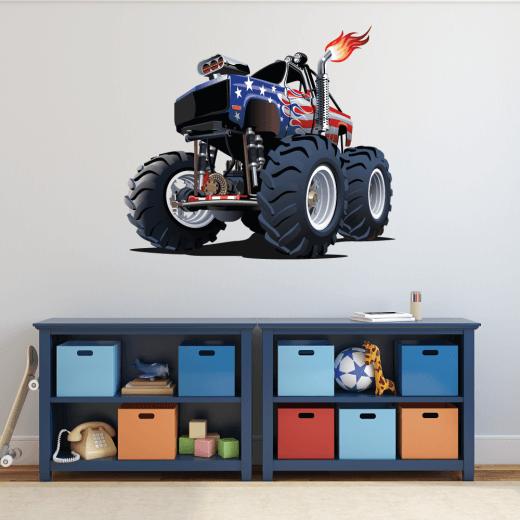 Monster Truck Wall Sticker