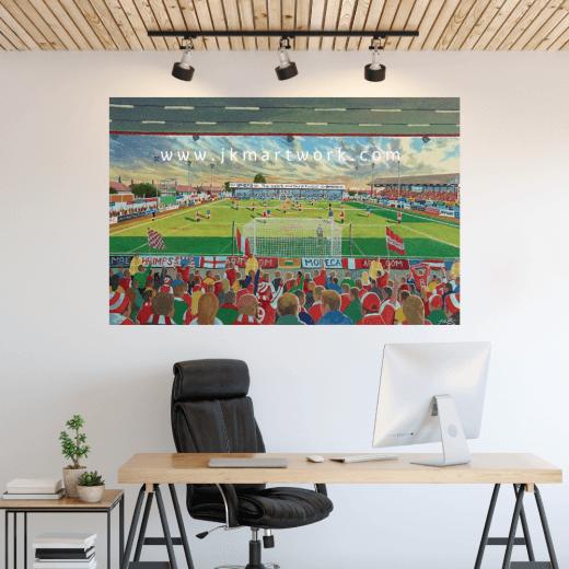Morecambe, Christie Park Football Ground Wall Sticker