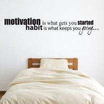 Motivation & Habit Wall Sticker Quote