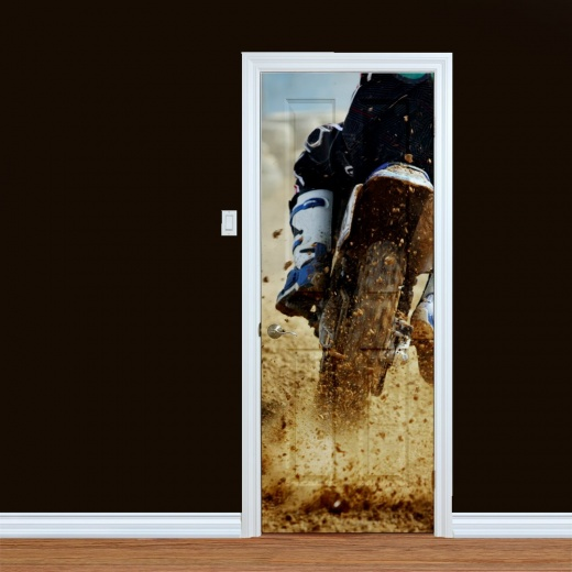 Motocross Motorbike Printed Door Art