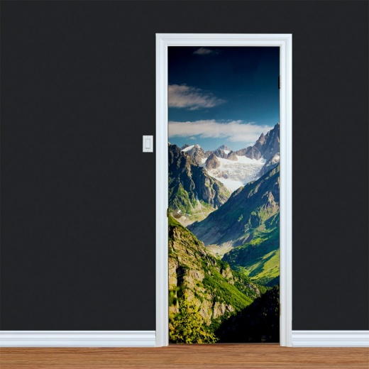 Mountain Peaks Printed Door