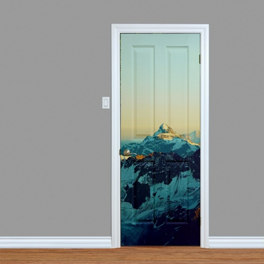 Mountain Range Printed Door