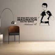 Muhammad Ali Motivational Sports Wall Sticker Quote