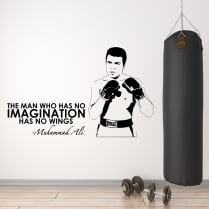 Muhammad Ali Motivational Sports Wall Sticker Quote