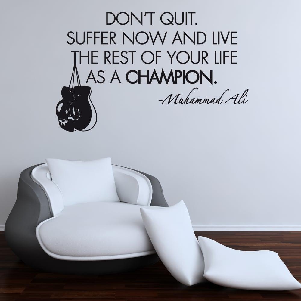 muhammad ali boxing wall sticker quote wall chimp uk muhammad ali motivational sports wall sticker quote