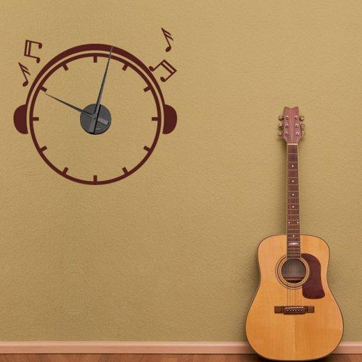 Music Wall Sticker Clock