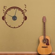 Music Wall Sticker Clock