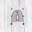 Navy Orange Rainbow Coaster