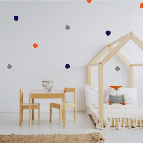 Navy Orange Rainbow Polka Dot Sticker Pack