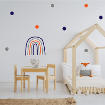 Navy Orange Rainbow & Polka Dot Sticker Pack