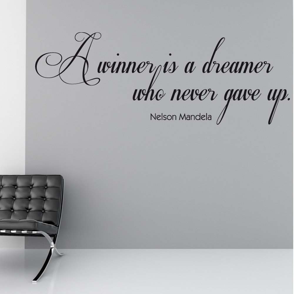 Nelson Mandela Winner Wall Sticker Quote Wall Chimp Uk