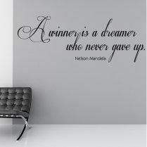Nelson Mandela Winner Wall Sticker Quote