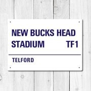 New Bucks Head, Telford Metal Sign