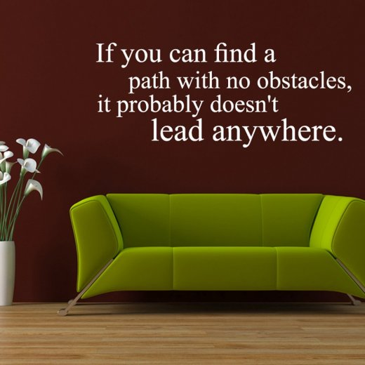 Obstacles Wall Sticker Quote