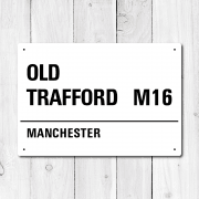 Old Trafford, Manchester Metal Sign