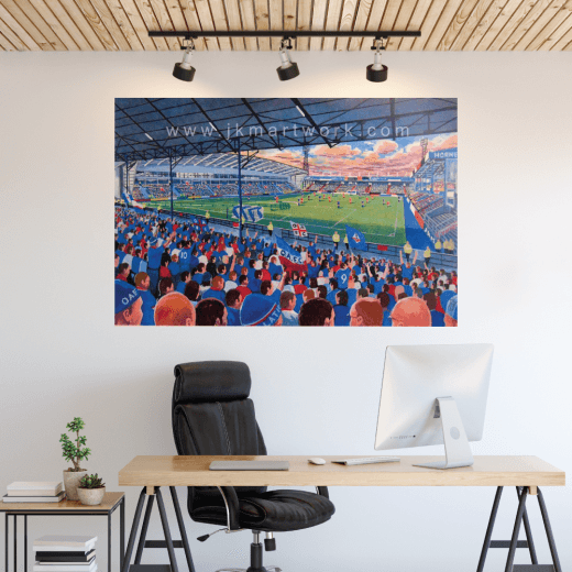 Oldham Athletic, Boundary Park Football Ground Wall Sticker