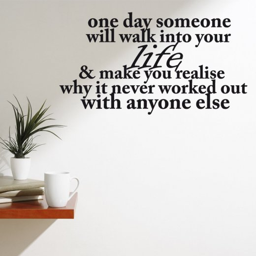 One Day Wall Sticker Quote