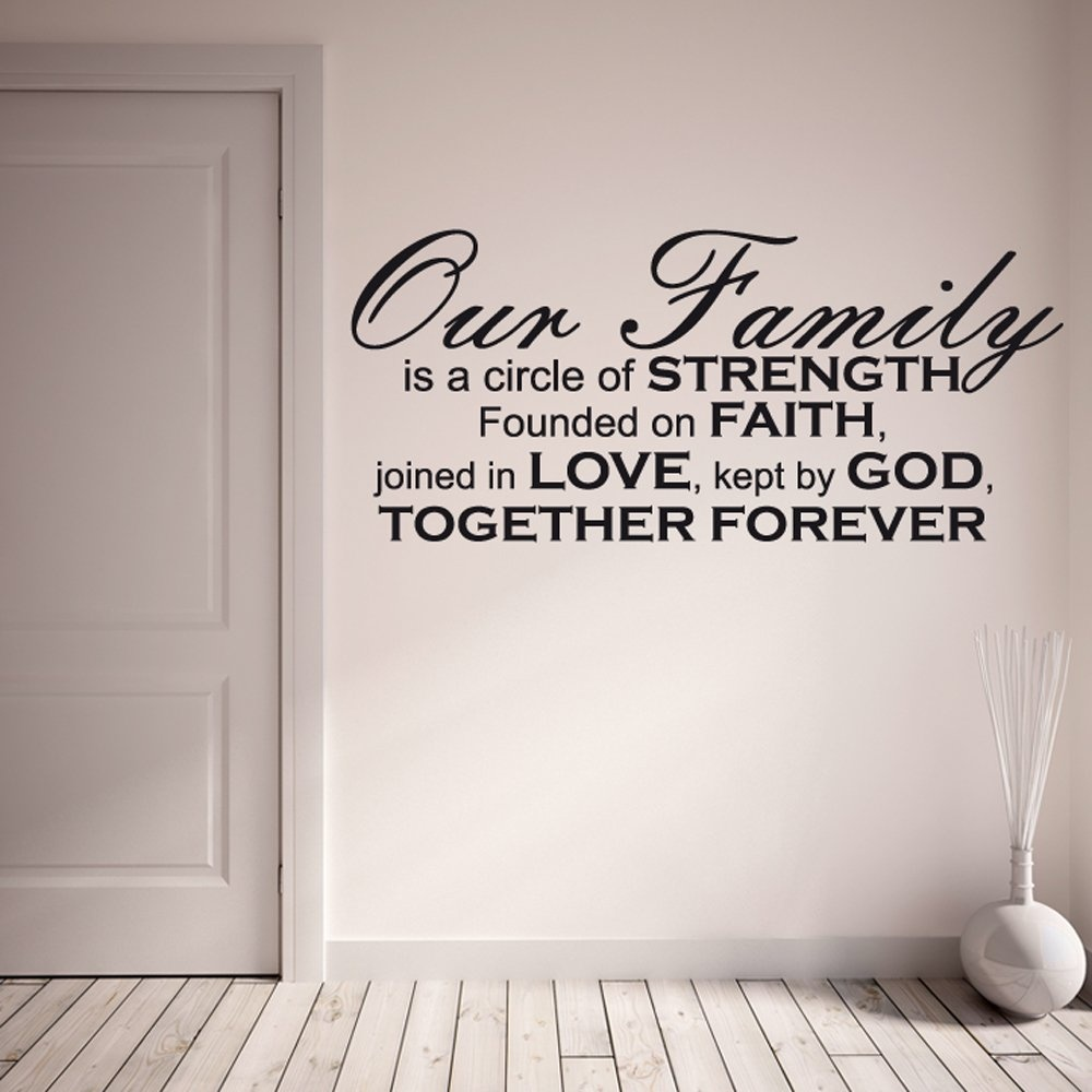 home quotes our family wall sticker quote custom wall decals home quotes our family wall sticker quote