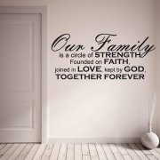 Our Family Wall Sticker Quote